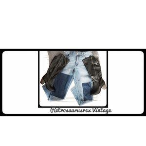 Vegan Leather Black Zipper Punk Boots Size 6.5